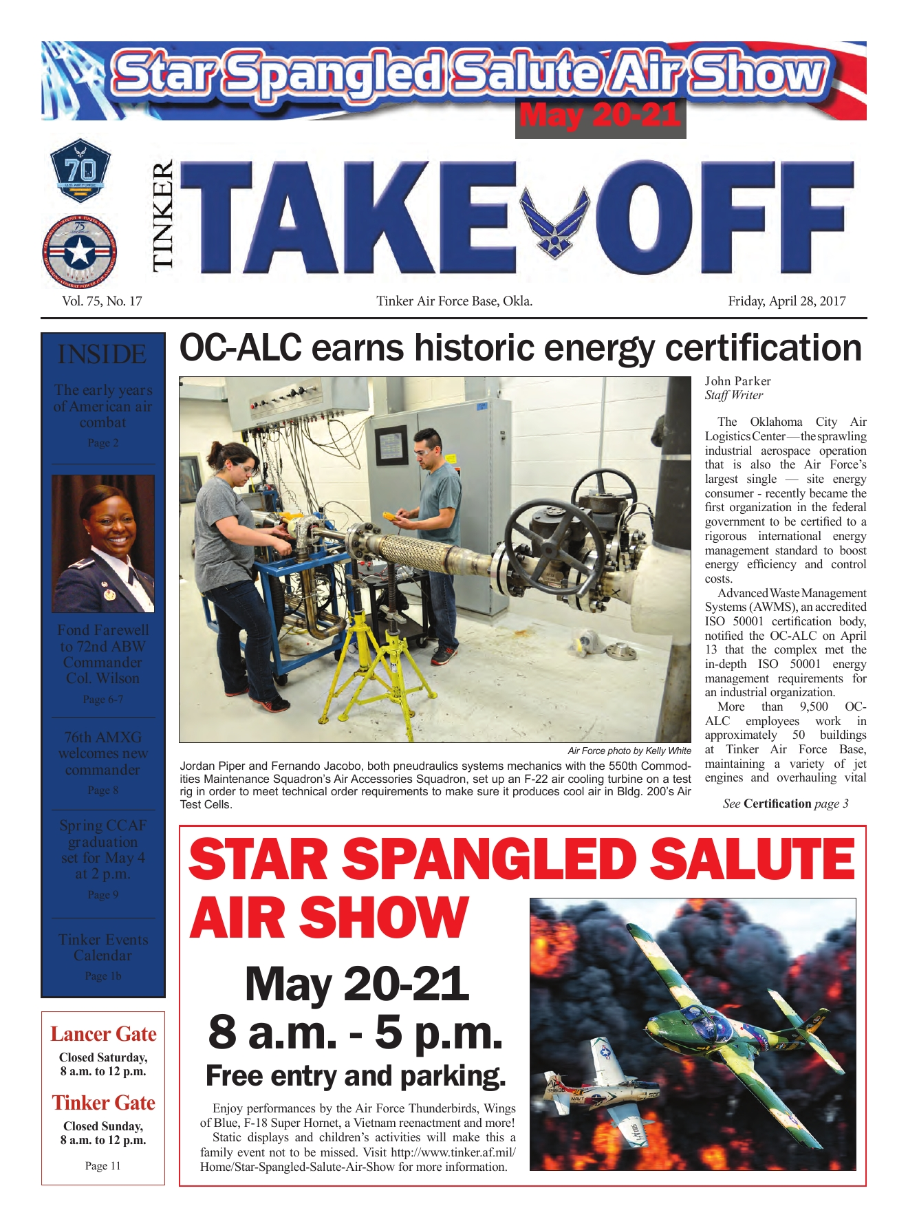 Tinker Take Off April 28, 2017 - Powered by PageTurnPro com
