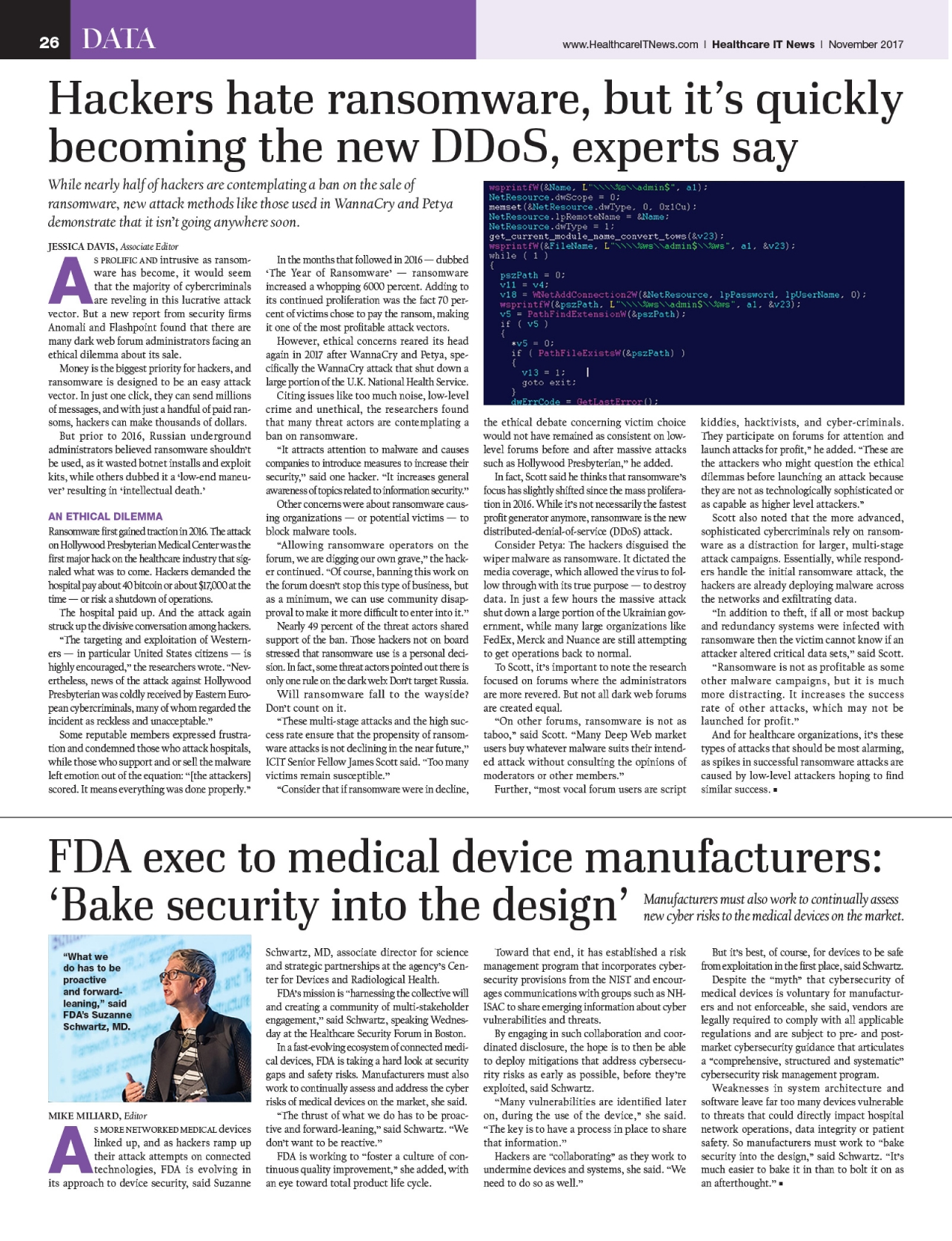 Healthcare IT News November 2017 - Powered by PageTurnPro com