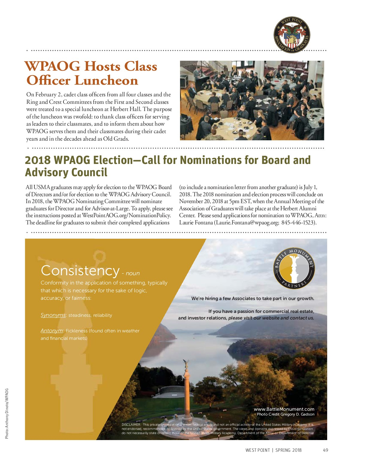 West Point Application Deadline >> West Point Magazine Spring 2018 Powered By Pageturnpro Com