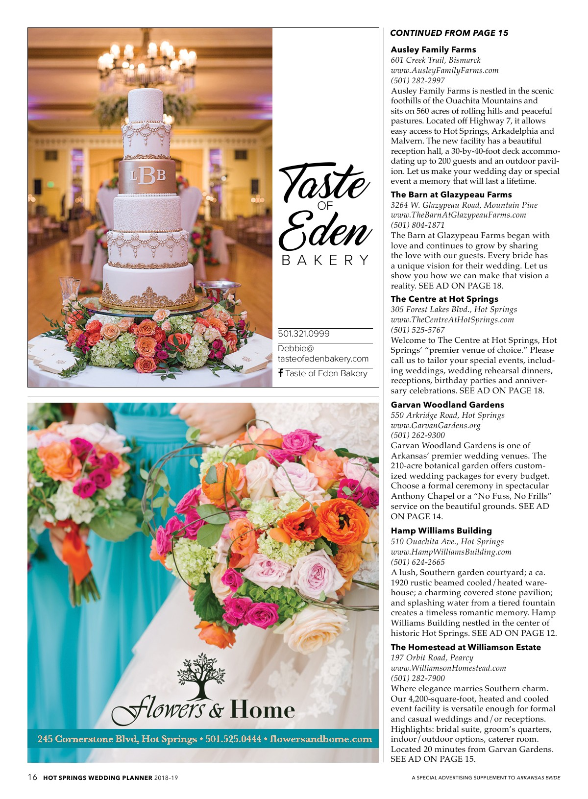 Hot Springs Wedding Planner 2018 Powered By Pageturnpro