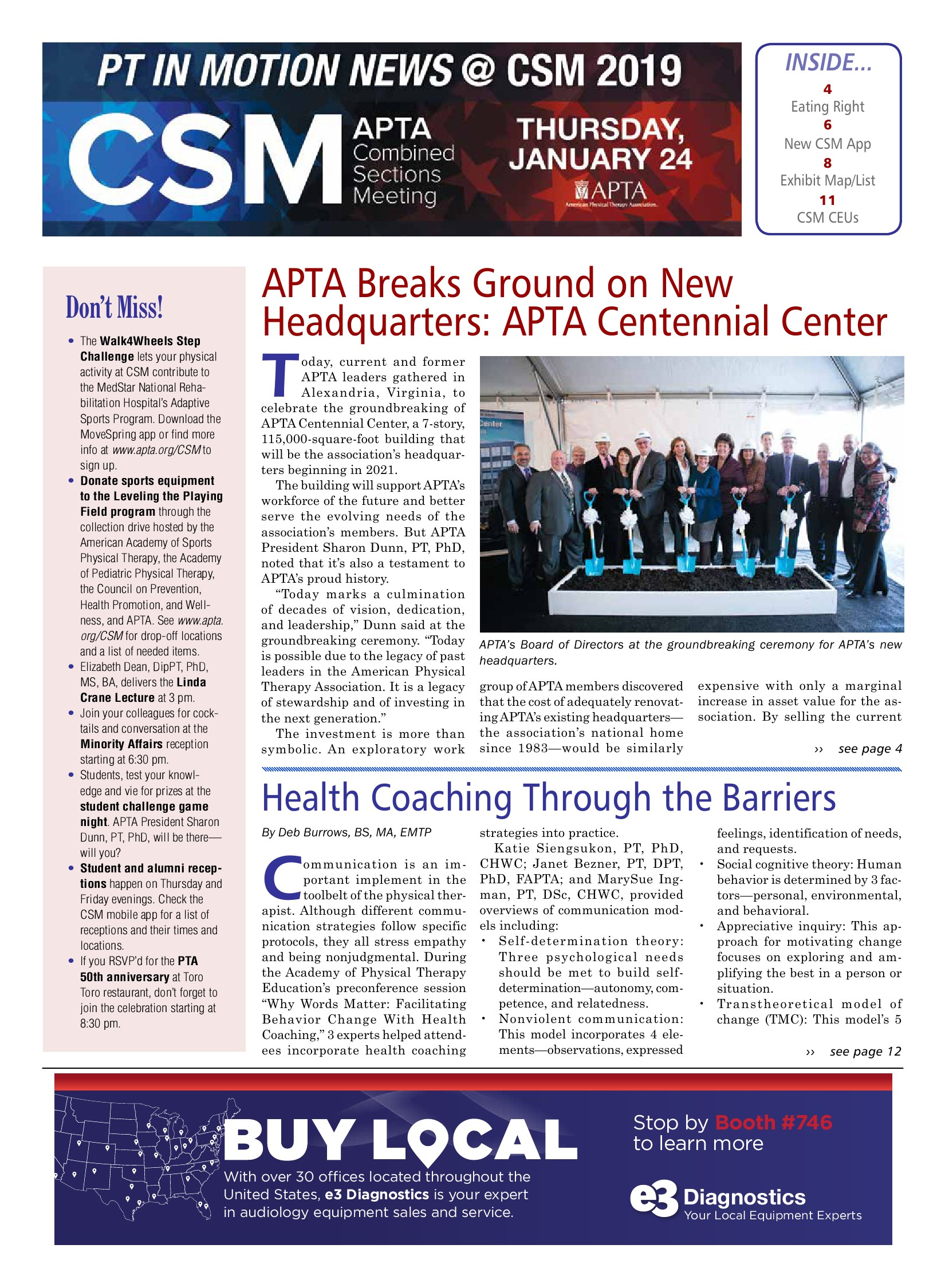 PT in Motion News CSM 2019 Thursday Issue - Powered by