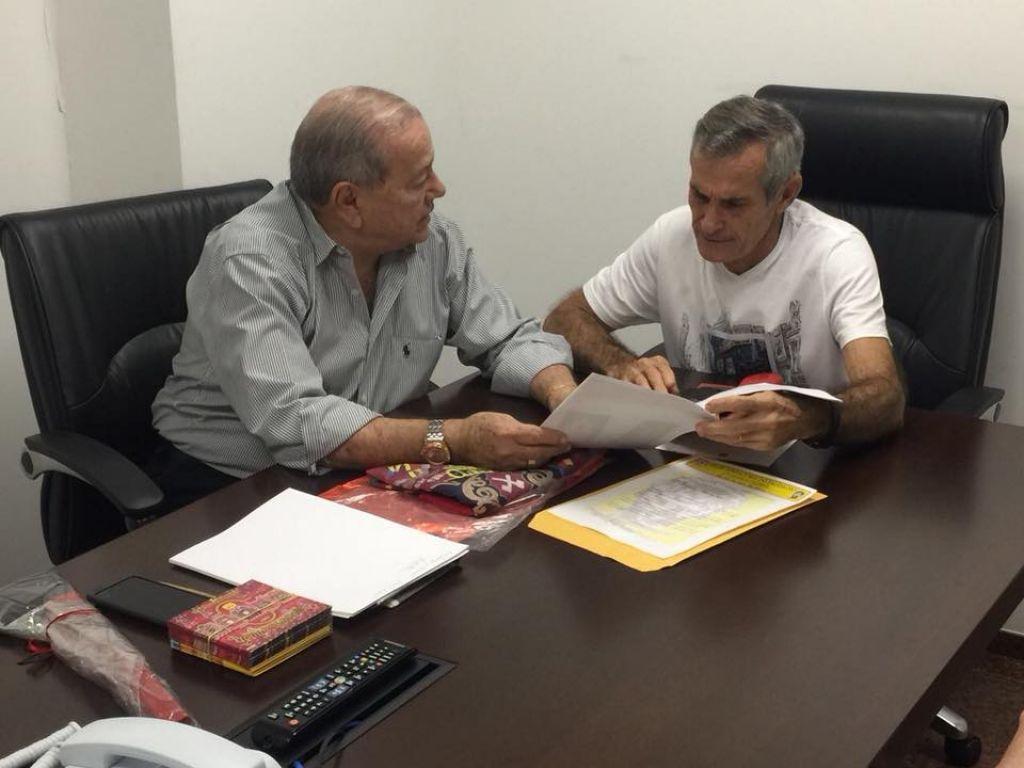 Deputado Romário Dias e Cauby Presidente do Clube Lenhadores do Paudalho