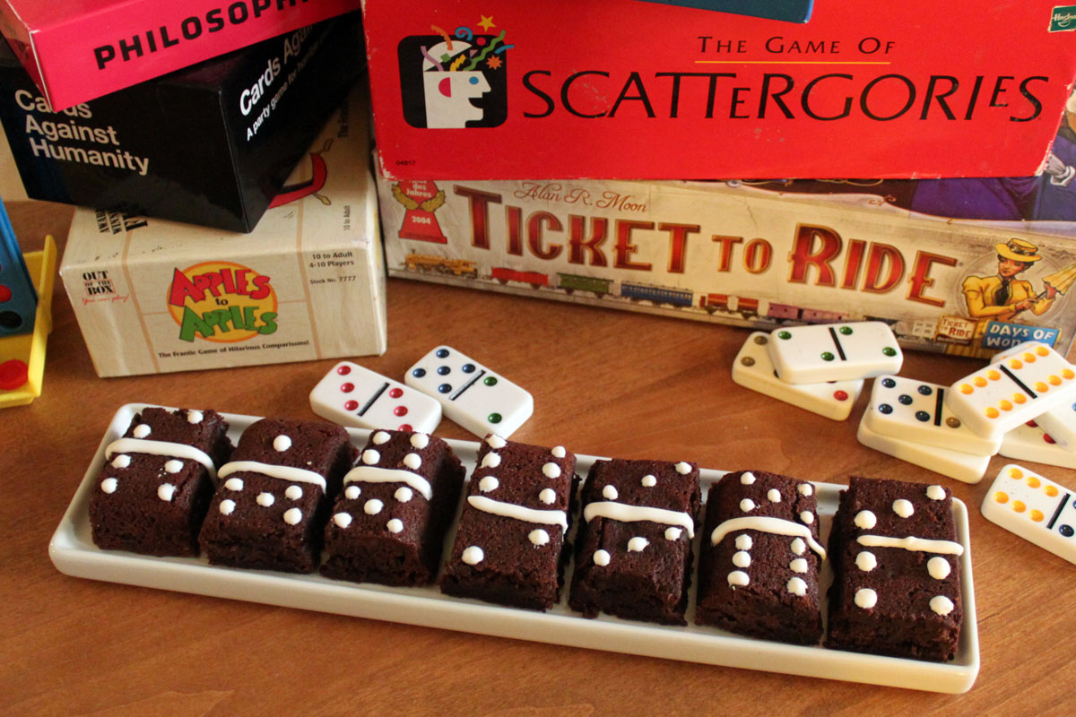 Game Night Brownies- Paint the Gown Red