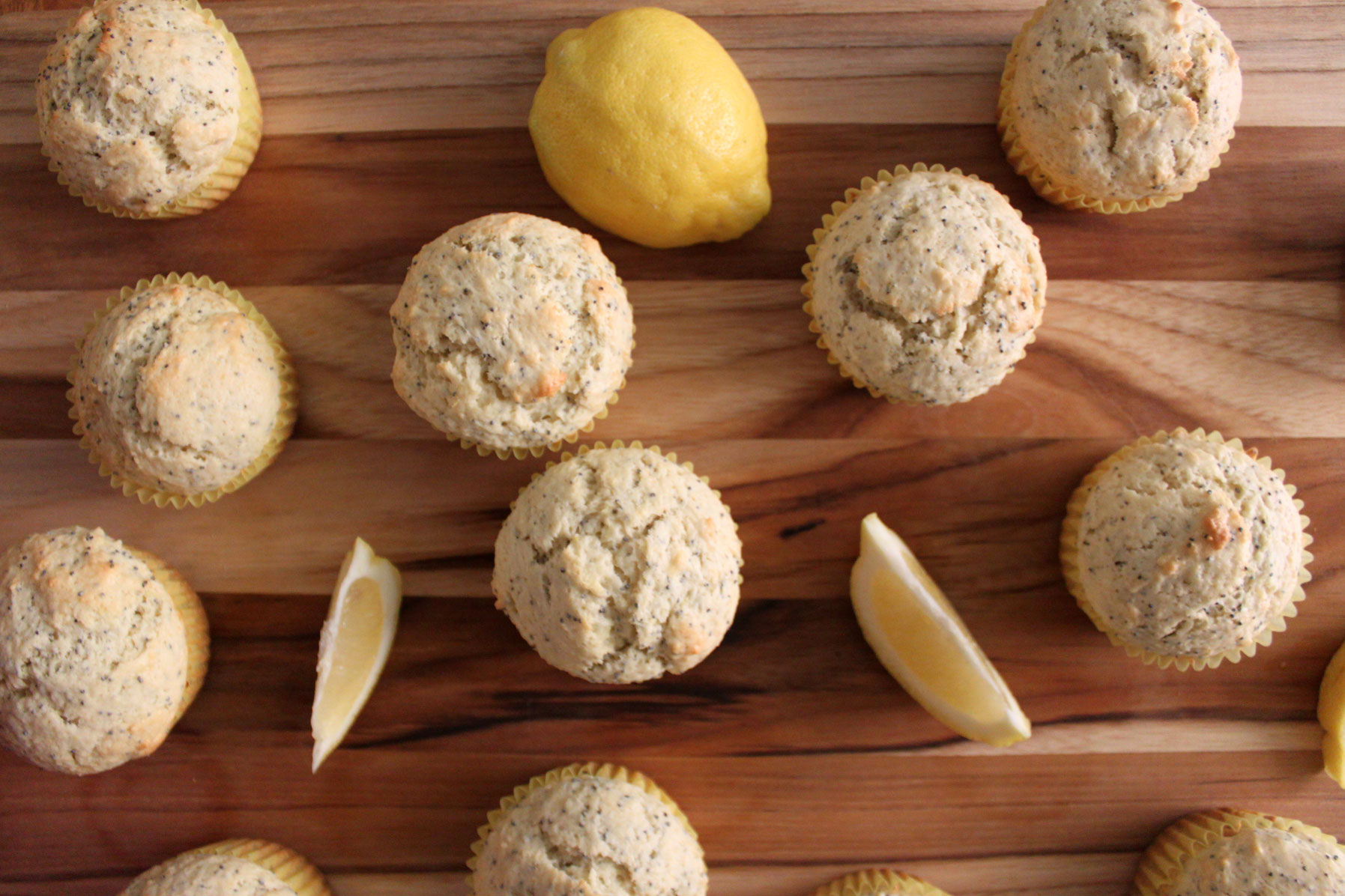 Lemon Poppy Seed Muffins- Paint the Gown Red