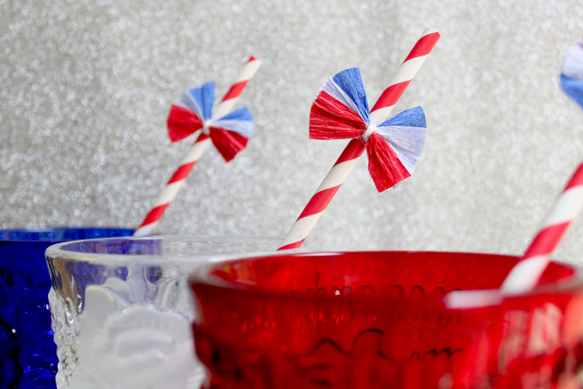 Uncle Sam's Straw DIY- Paint the Gown Red