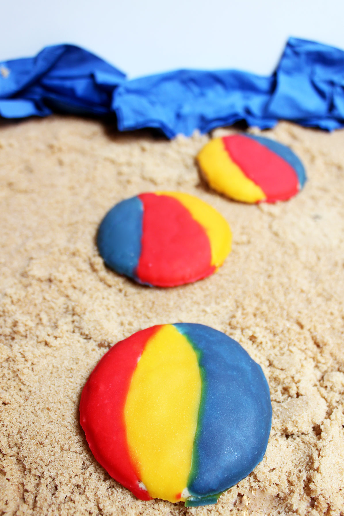 Beach Ball Cookies - Paint the Gown Red
