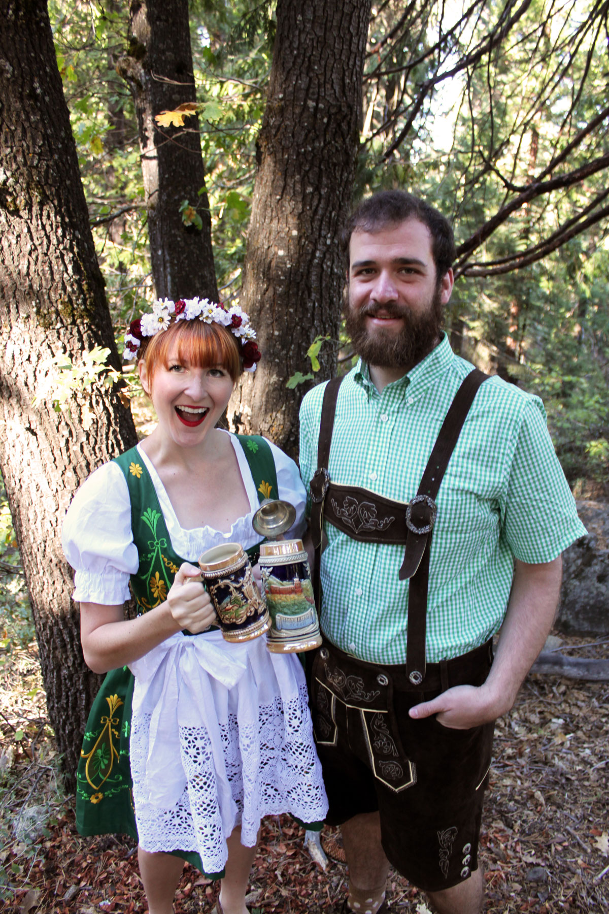So finally we decided to do something about it and get some traditional Bavarian outfits of our own. These are those outfits.  sc 1 st  Paint the Gown Red & Couples Costume: Oktoberfest - Paint the Gown Red