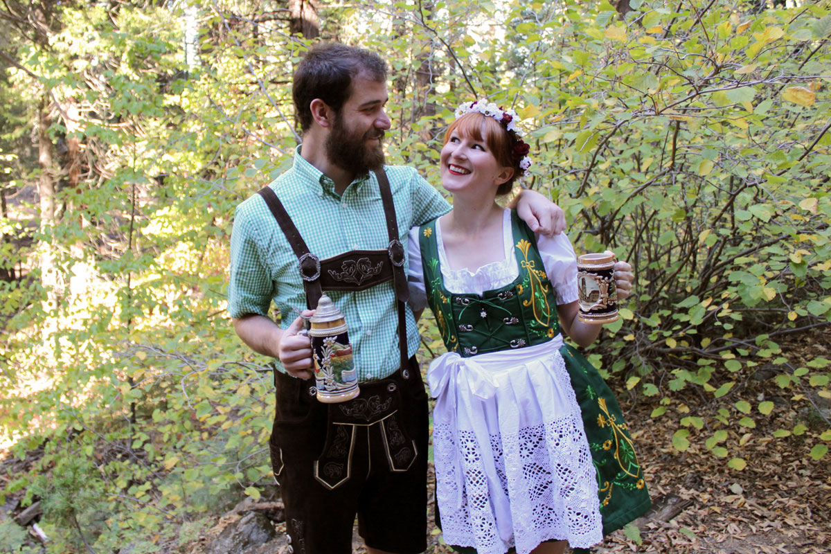 Couples Costume: Oktoberfest- Paint the Gown Red