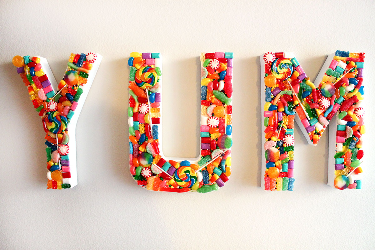 DIY Candy YUM Sign- Paint the Gown Red
