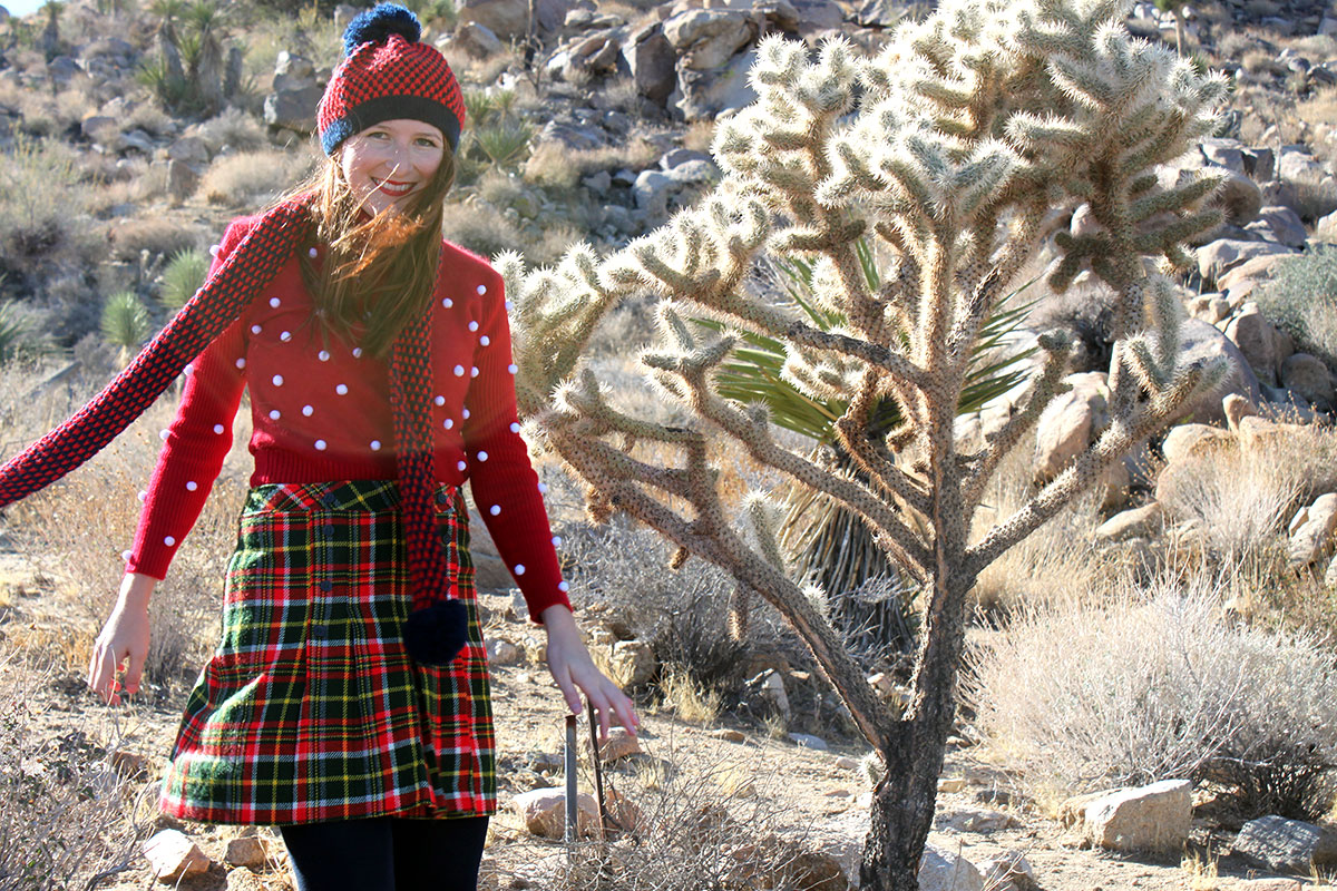 Pom Pom Christmas Style (in Joshua Tree)- Paint the Gown Red