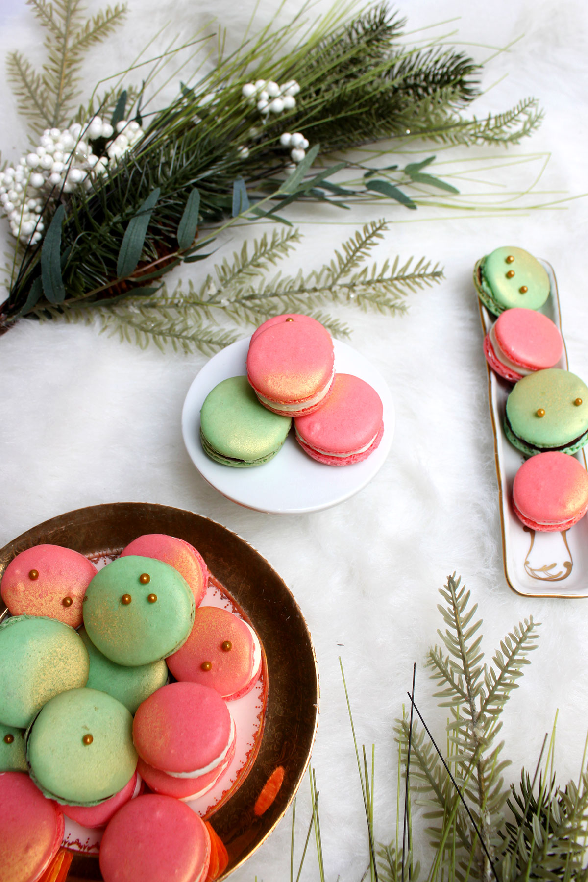 Mint, Pink & Gold Macarons- Paint the Gown Red