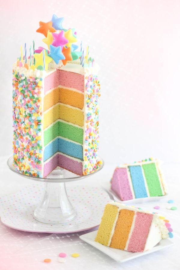 8 Rainbow Cakes