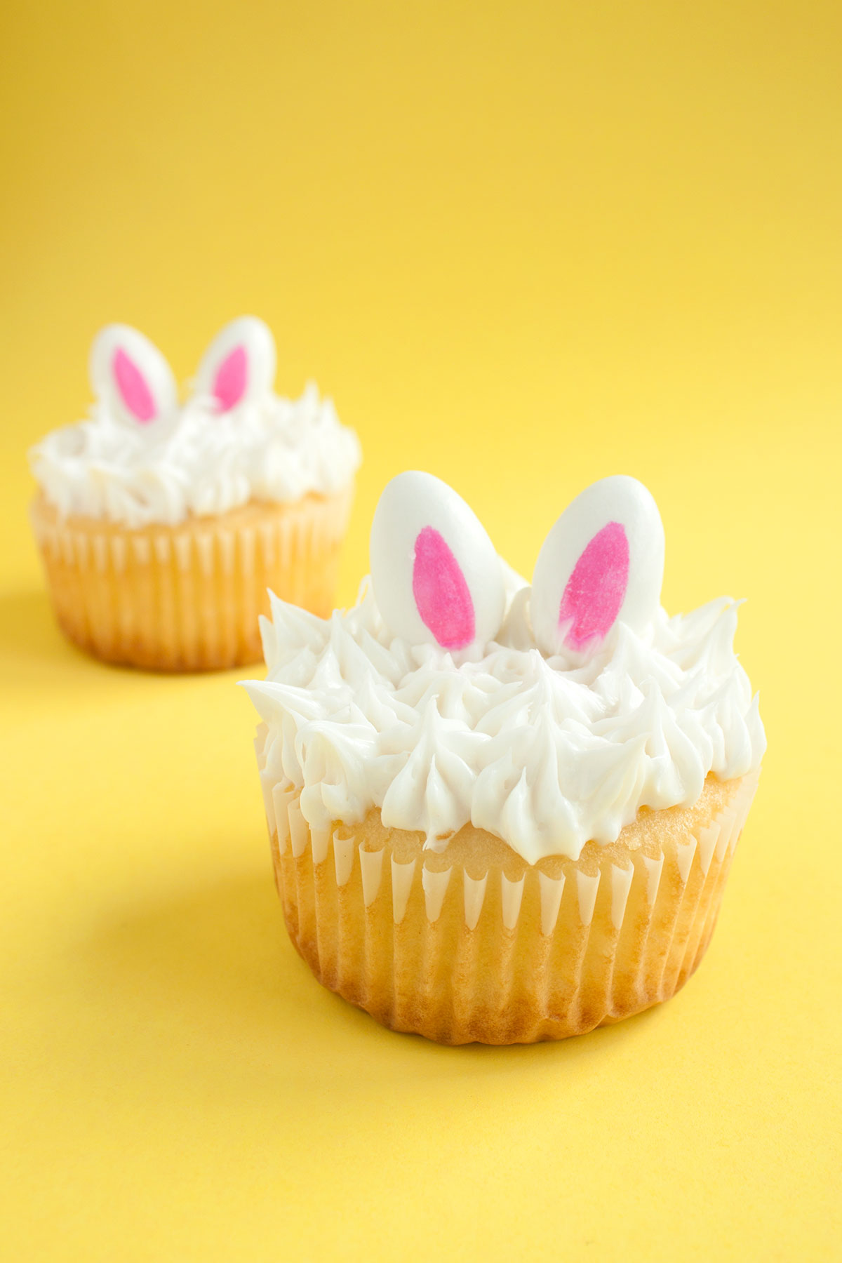 DIY Bunny Ear Cupcakes- Paint the Gown Red