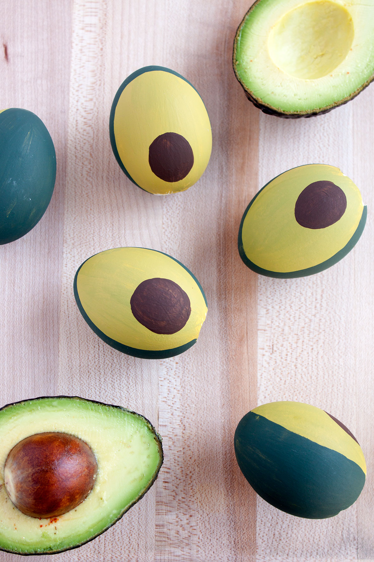 DIY Avocado Easter Eggs- Paint the Gown Red