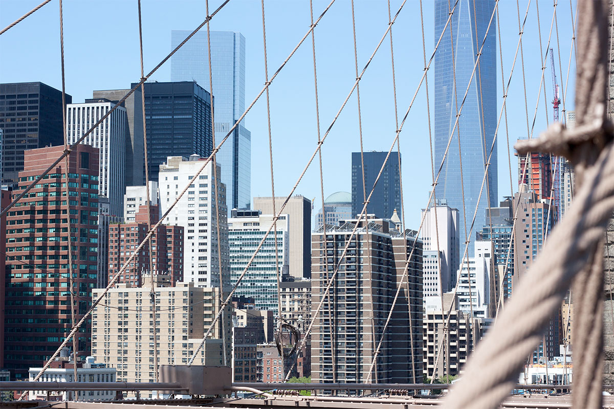 Walk The Brooklyn Bridge- Paint the Gown Red