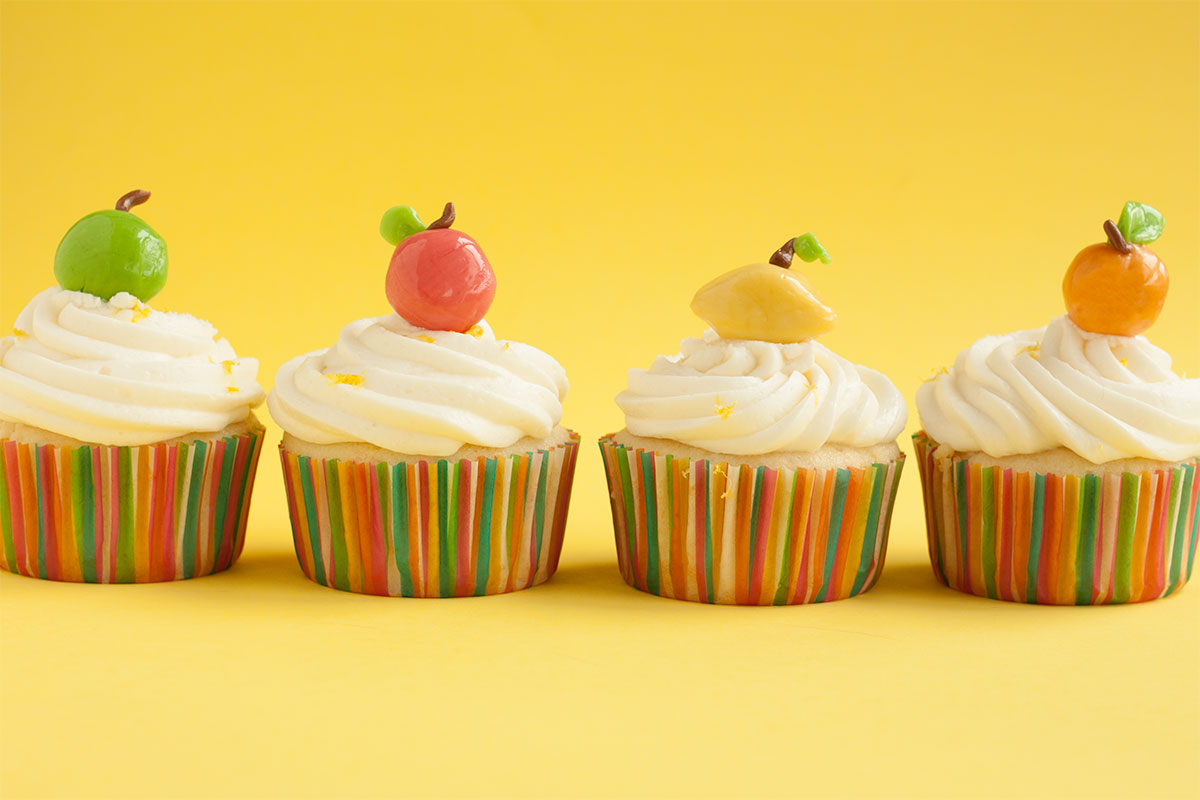 Edible Citrus-Shaped Cupcake Toppers on eHow