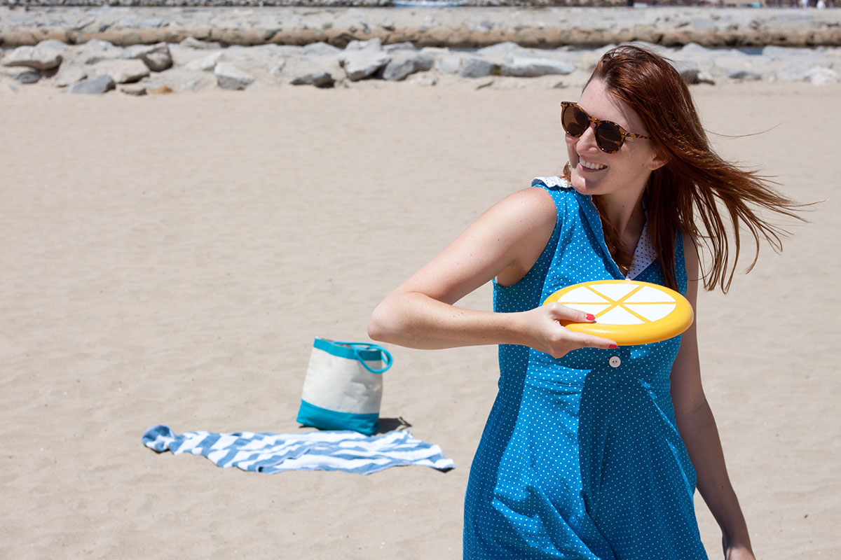 DIY Citrus Slice Frisbees- Paint the Gown Red