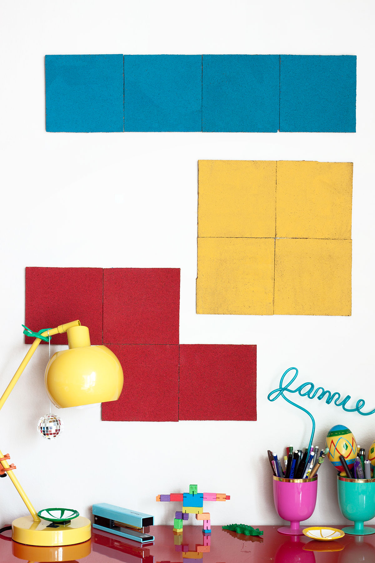 DIY Tetris Bulletin Boards- Paint the Gown Red