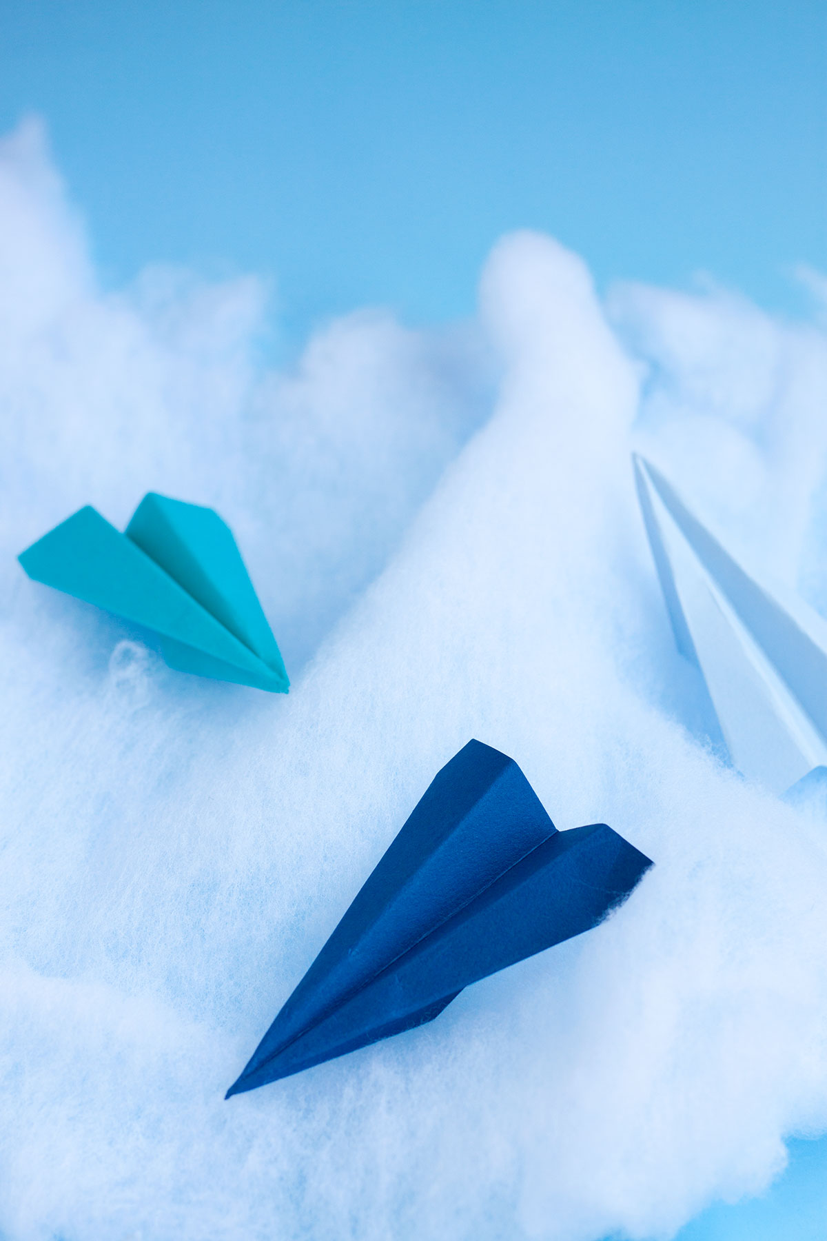 Paper Airplane Cake Toppers- Paint the Gown Red
