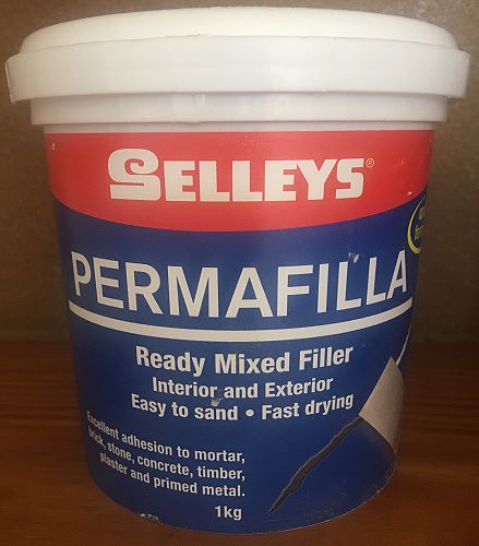 tub of ready mixed crack filler