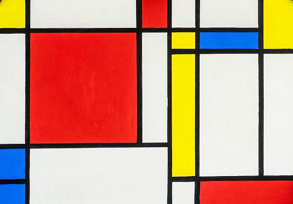 Pattern artwork by Piet Mondrian