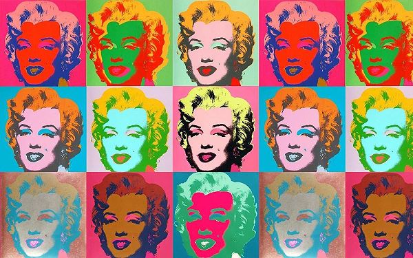 Repeating pattern pop art by Andy Warhol