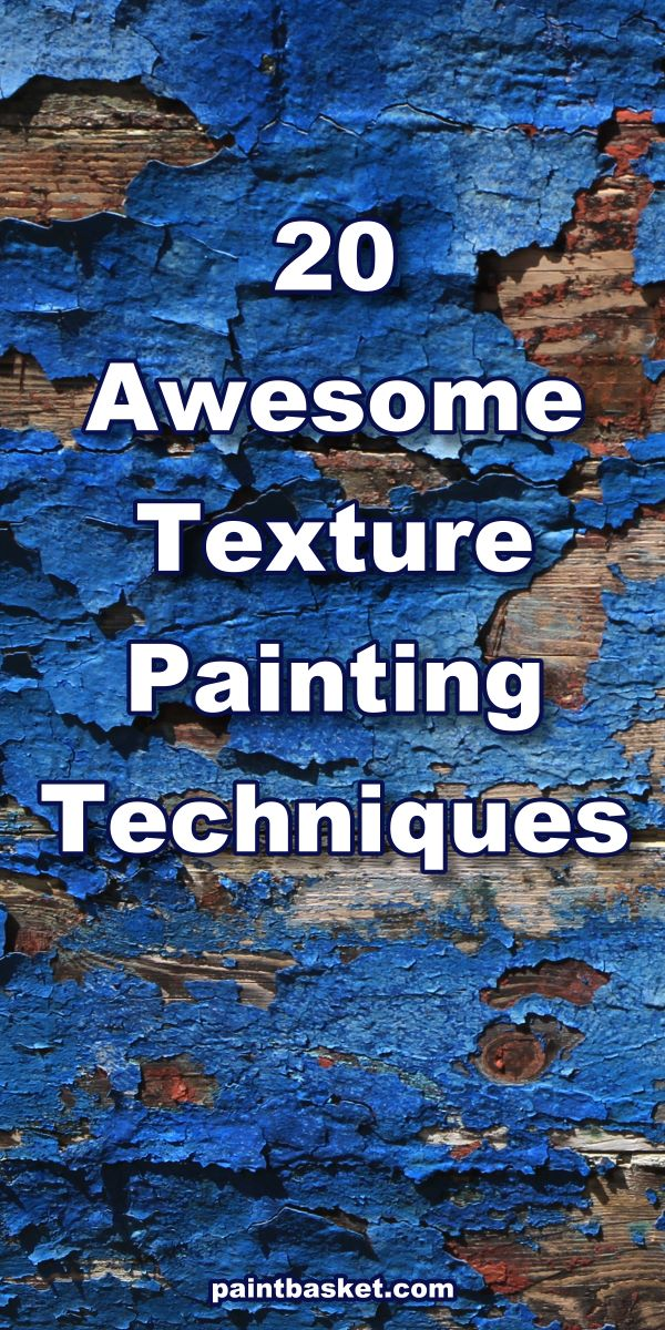 Learn how to paint 20 texture painting techniques in this online art lesson by Nolan Clark of the Paint Basket.  art concept, art challenge, art tutorial, art basics