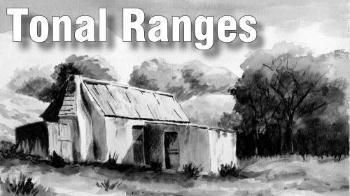 Learn to paint a monochrome landscape in watercolour
