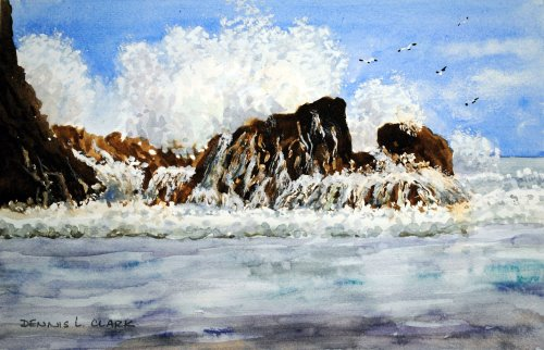 How To Paint Crashing Waves In Watercolour