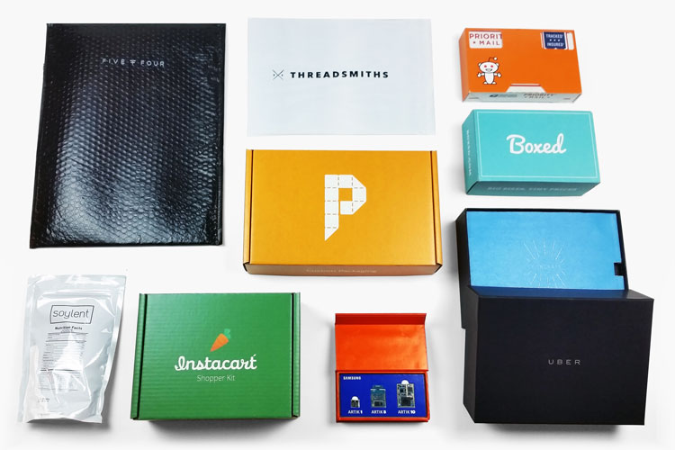 Branded packaging for Uber, Boxed, Instacart, Soylent, Samsung, & more.