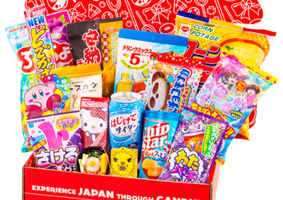 Box full with candy