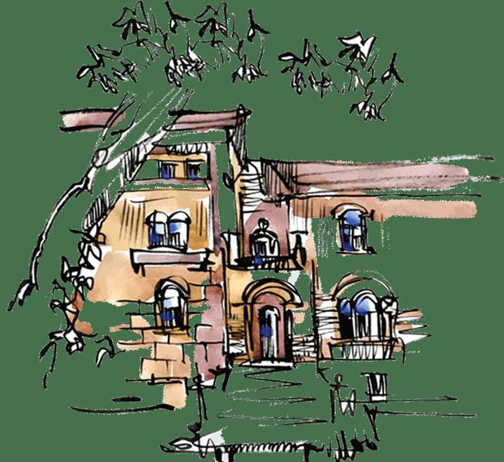 Pali Society Story Illustration of building