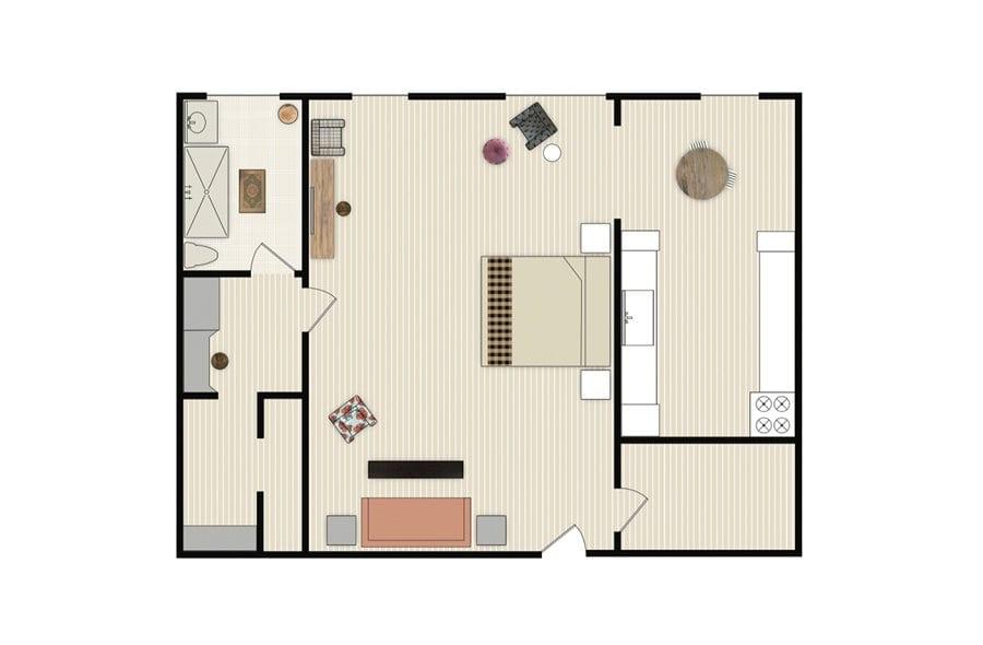 Pali santamonica grandstudio floorplan