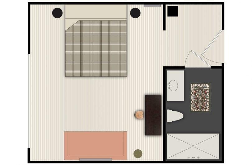 Melrose queen floorplan