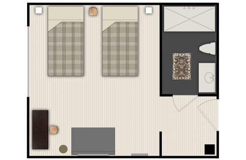 Melrose twin floorplan