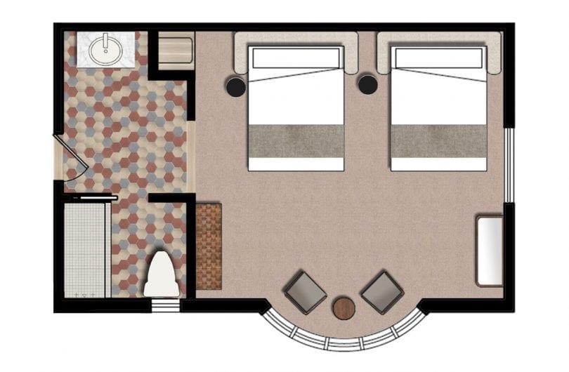 Wwv double queen floorplan