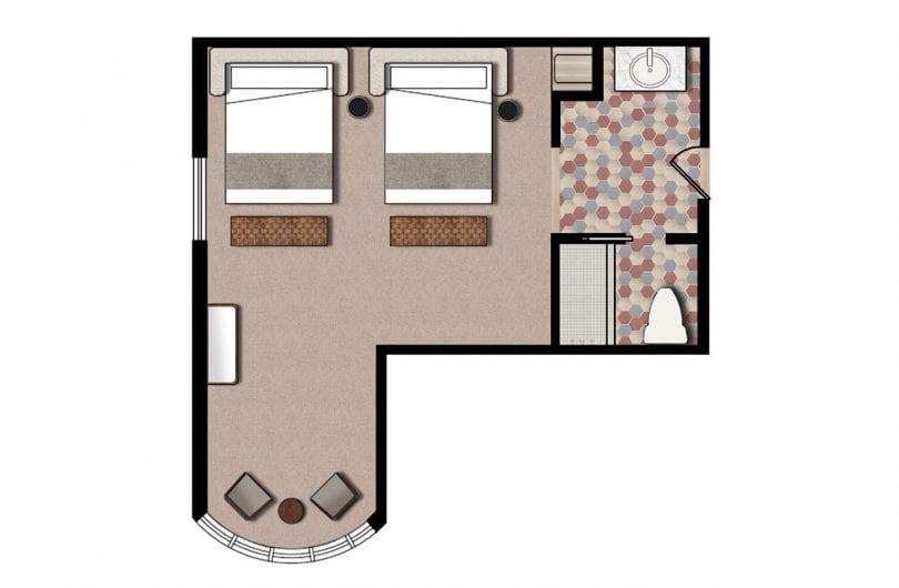 Wwv garden double queen floorplan
