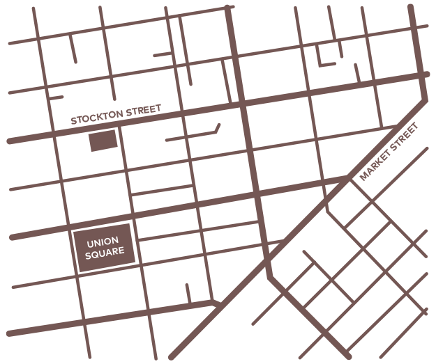 Map of San Francisco in brown
