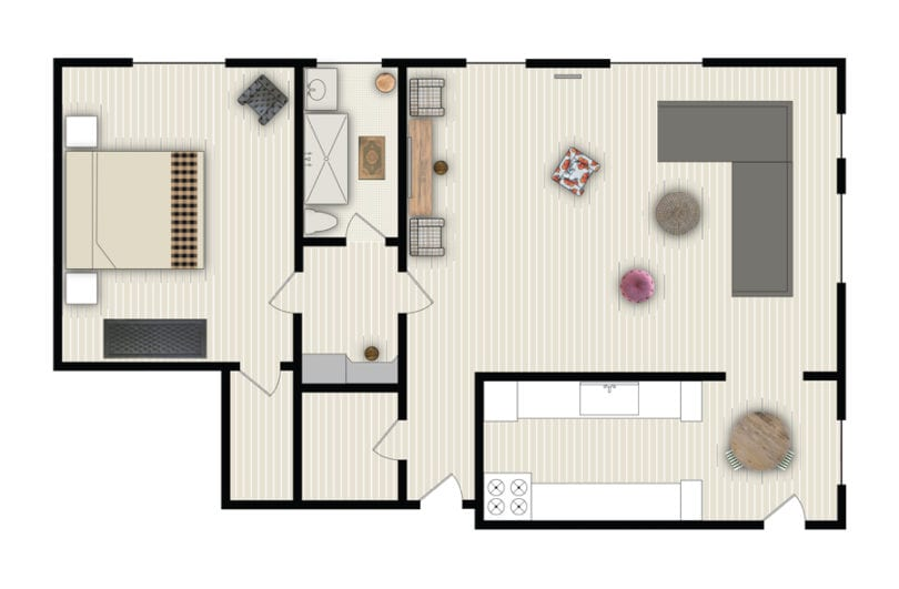 one-bedroom-residence-phsm floorplan