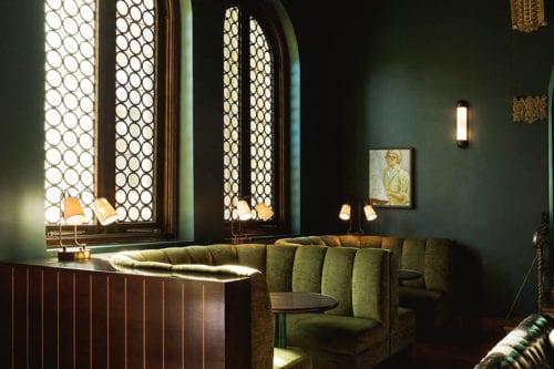palihouse santa monica- lobby booths