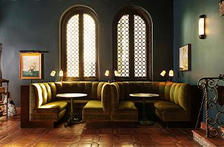 santa monica booths in lobby