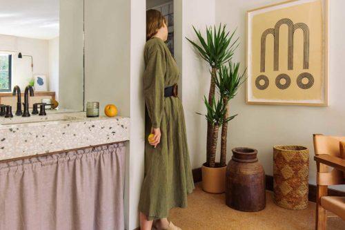 Slpi girl in robe
