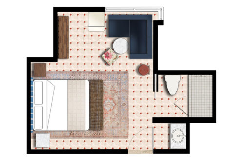 Miami beach king floorplan