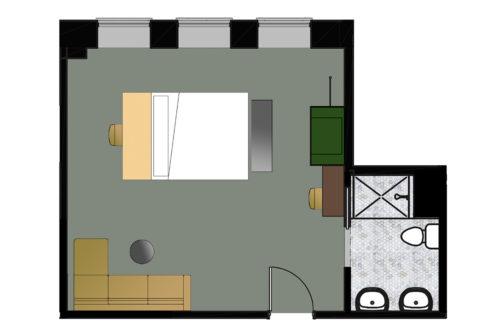 Seattle king suite floorplan