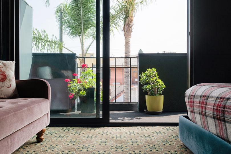 balcony from room