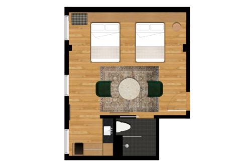 portland double floorplan