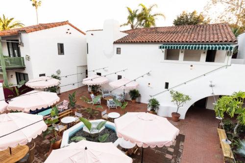 palihouse santa barbara courtyard aerial