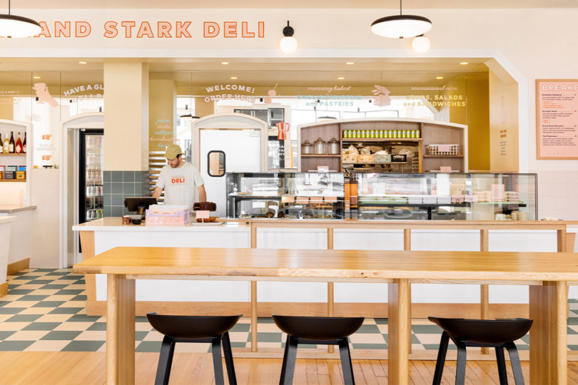 grand stark deli wideshot of restaurant space