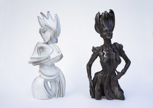 Gil-Bruvel-both-Queens-Chess-Set