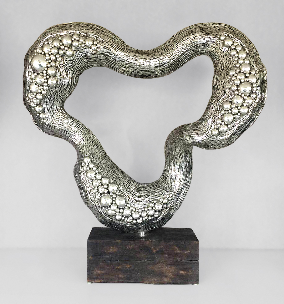 Exploration-200-x-230-x-70-cm-Stainless-steel-and-wood